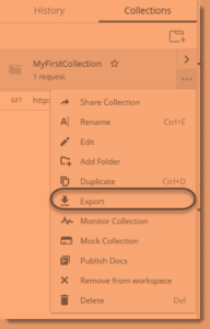 export postman collection